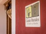 Letrero entrada certificado casa rural villanova, Toledo